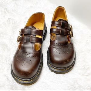 Dr. Martens Mary Jane Brown Leather size 6 UK/8 US